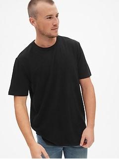 740283fce2bbc Crewneck T-Shirt in Linen-Cotton