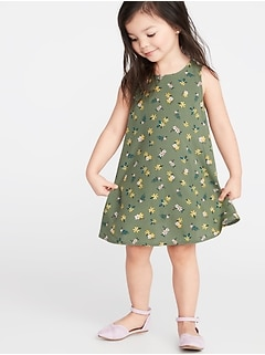 24370a3a9313 Printed Sleeveless Swing Dress for Toddler Girls