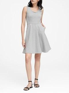 8e8badfd74e Ponte Fit-and-Flare Dress