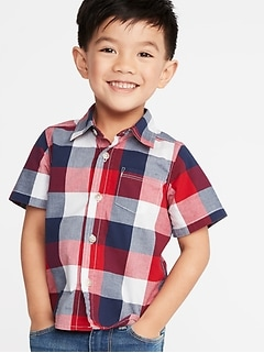 8d590120c Toddler Boy Long-Sleeve & Button Up Shirts | Old Navy