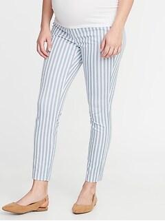 c9479c060 Maternity Full-Panel Striped Pixie Pants