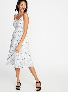 627b29eb06b03 Polka-Dot Fit & Flare Midi for Women