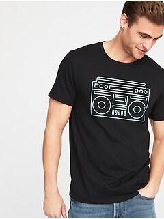 090f8fdb437 Graphic Crew-Neck Tee for Men