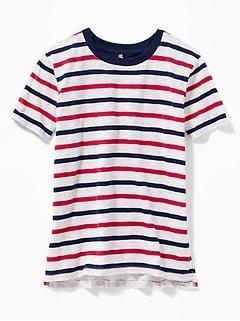 71d53d5e3f7 Striped Americana Slub-Knit Tee for Girls