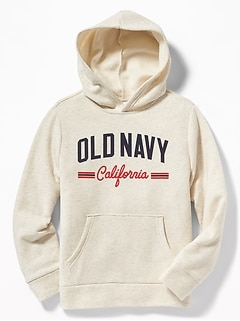 69ec16cd47 Logo-Graphic Pullover Hoodie for Boys