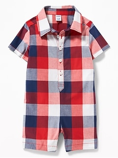 Baby Boys Baby Gap 6-12 Months Denim Pants Plaid Cuffs Soft Waist Boys' Clothing (newborn-5t)
