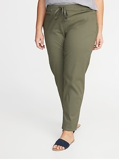 9dca74debcb Mid-Rise Secret-Slim Pockets Plus-Size Anytime Pull-On Chinos