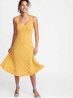 b8ca66fc60 Sleeveless Fit   Flare Jersey Midi Dress for Women