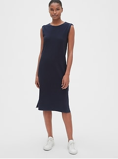 f86281e9423f Roll-Cuff Midi T-Shirt Dress