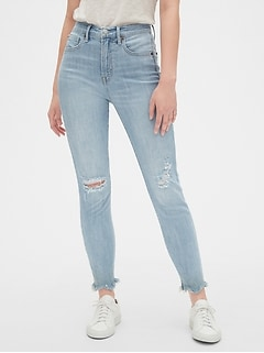15e45d1dbe5 High Rise True Skinny Ankle Jeans with Secret Smoothing Pockets
