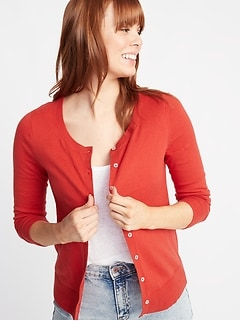 9028137d86d Semi-Fitted Button-Front Cardi for Women