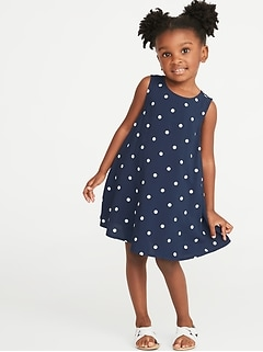 5f7e897c6f Printed Sleeveless Swing Dress for Toddler Girls