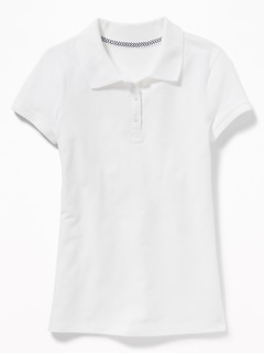 a8dc38a7bc5980 Uniform Stain-Resistant Pique Polo for Girls