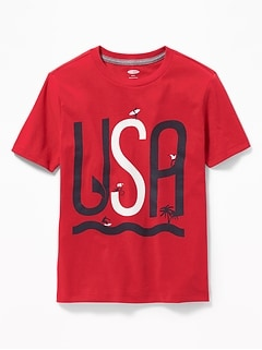3126a65b Graphic Crew-Neck Tee for Boys