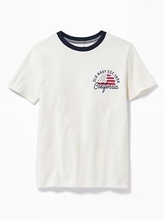 6ee7287bb Logo-Graphic Crew-Neck Tee for Boys