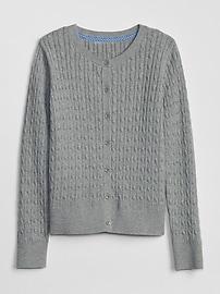 갭 키즈 여아용 가디건 GAP Kids Uniform Cable-Knit Cardigan Sweater,true indigo