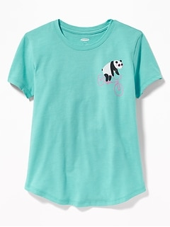 06bd43e99 Graphic Curved-Hem Tee for Girls