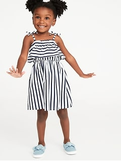 cca641fb3349 Printed Jersey Ruffled Fit & Flare Dress for Toddler Girls