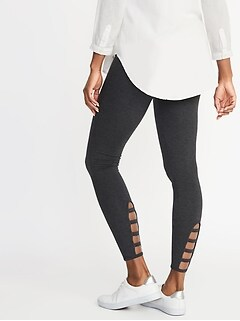 Clothes, Shoes & Accessories Size 8 Discounts Price Black And Leopard Print Leggings