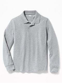 d647ef110 Uniform Built-In Flex Long-Sleeve Pique Polo for Boys