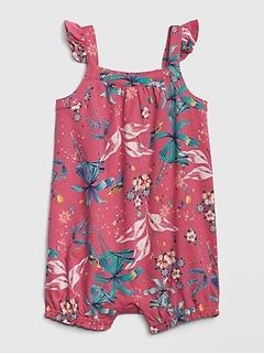 621a68623 Baby Floral Flutter Shorty Romper