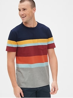 0cf46494d Heavyweight Stripe Pocket T-Shirt