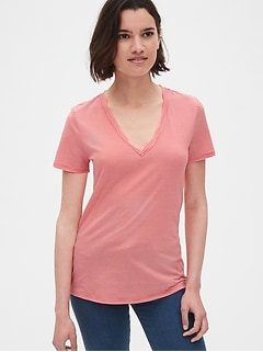 393b0af5c91009 Vintage Wash Stripe V-Neck T-Shirt