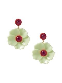 42ab3c3b0fd Enamel Flower Drop Earrings
