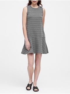 9224b8982d6 Stripe Drop-Waist Knit Dress