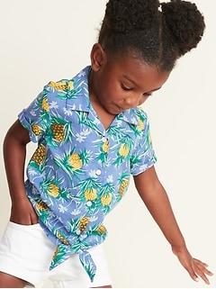 015fa054 Printed Tie-Hem Getaway Shirt for Toddler Girls