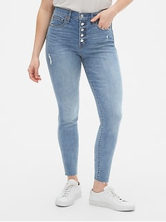 3bfbee8b High Rise True Skinny Jeans with Secret Smoothing Pockets