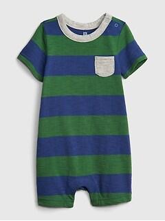 0506b3817 Baby Stripe Shorty One-Piece