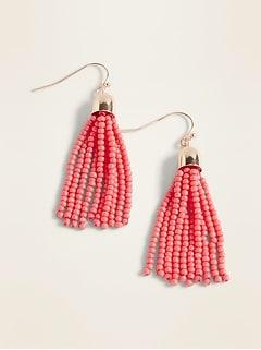58321ed9d Beaded Tassel Drop Earrings for Women