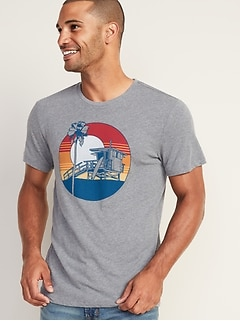 b41dbf7e Soft-Washed Graphic Tee for Men