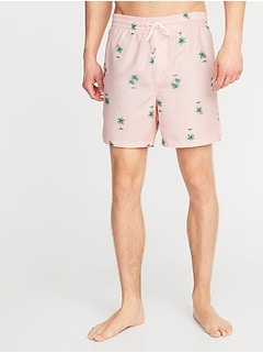 8251b27785 Printed Swim Trunks for Men - 6-inch inseam