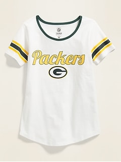 5775f643d NFL® Team-Graphic Sleeve-Stripe Tee for Girls