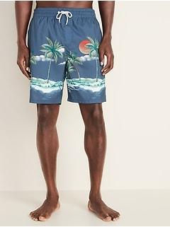 e9e8ef857c Printed Swim Trunks for Men - 8-inch inseam