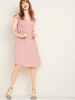 aaa48eca5726 Waist-Defined Tie-Neck Dress for Women