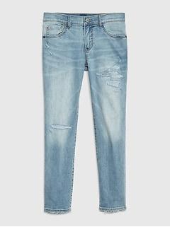 ade800294de Kids Superdenim Destructed Slim Jeans with Fantastiflex