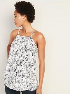 f7e971d9f79d1f Lightweight Cheetah-Print Square-Neck Cami for Women