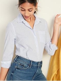 b5b95360cc Mixed-Stripe Classic Shirt for Women