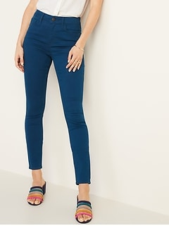 a3a0ed636d381 High-Rise Secret-Slim Pockets Pop-Color Rockstar Super Skinny Jeans for  Women