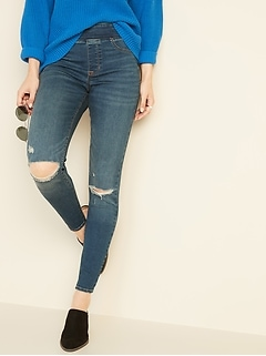 cf876220a860ef Mid-Rise Distressed Rockstar Jeggings for Women