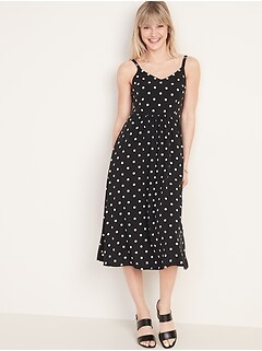 Oldnavy Printed Fit & Flare Cami Midi Dress for Women