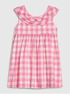 Baby Gap Girl/'s ShortSleeve Smocked Squareneck Dot Print Dress Size 2T 3T 4T