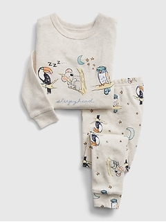 Gap Long Sleeve Pajama OWL Green Polka Dots Girls 12-18M 18-24 M 3T 4T 5T