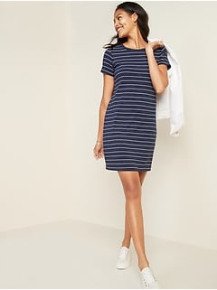 Regular Tall Petite Ex NEXT Navy stretchy twist front dress