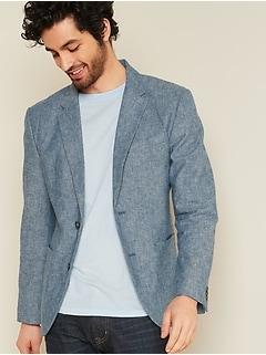 Oldnavy Built-In Flex Linen-Blend Blazer for Men