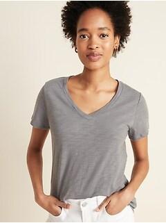 EveryWear Slub-Knit V-Neck Tee for Women
