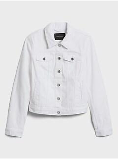 bananarepublic White Denim Jacket